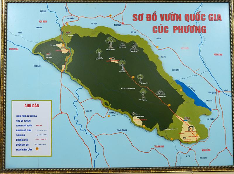 Sơ đồ vườn quốc gia Cúc Phương tại trạm kiểm lâm